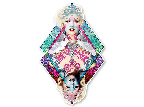 Marilyn Monroe Sticker- Marilyn Decal- Queen of Diamonds- Marilyn Monroe Art - A