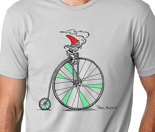 Men's Biking Gnome in Gray