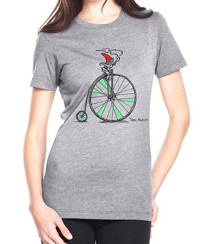 Women's Biking Gnome in Gray