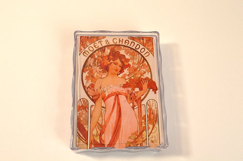 Mucha Moet  Chandon Playing Cards in Plastic Box