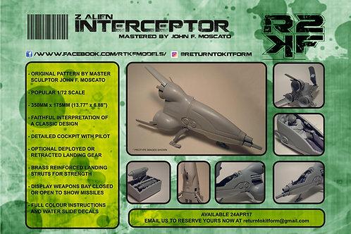 1/72 Z Alien Interceptor Pod Resin Kit