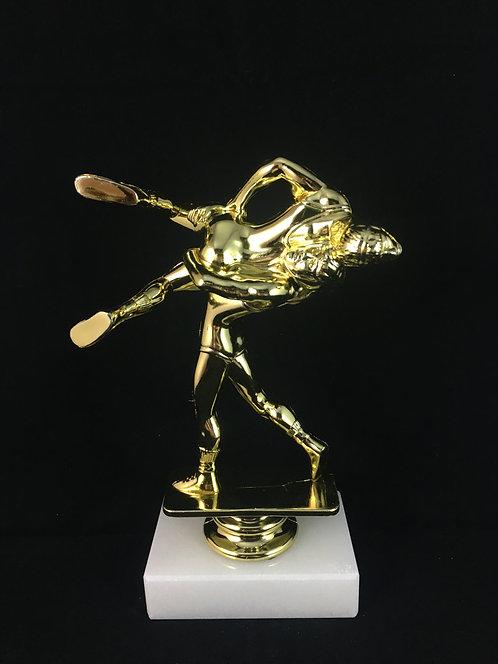 Double Wrestling Gold Figure Trophy