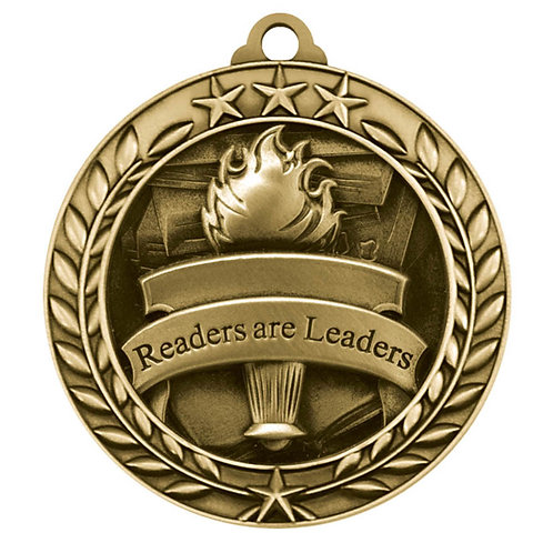 Wreath Medallion Readers are Leaders
