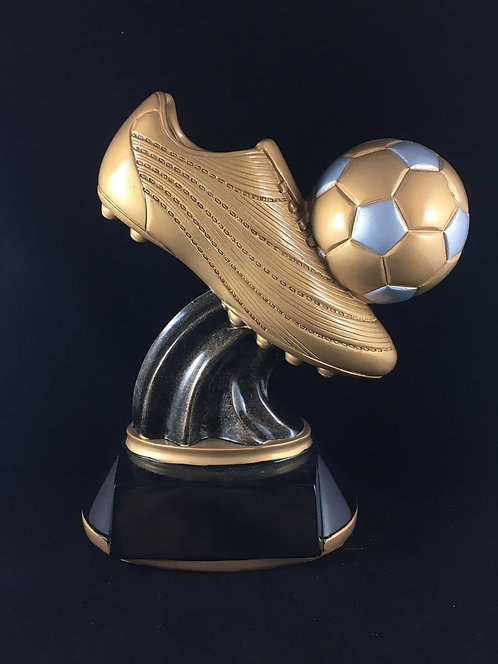 Golden Soccer Cleat Resin Trophy