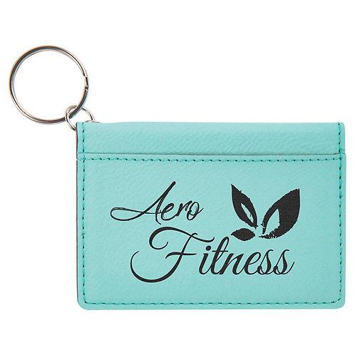 Leatherette ID Holder Keychains