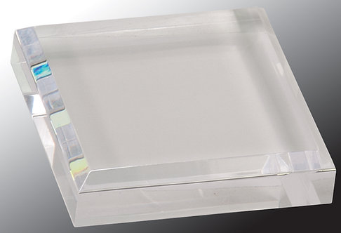 """Clear Acrylic Paperweight, 3""""x3"""""""