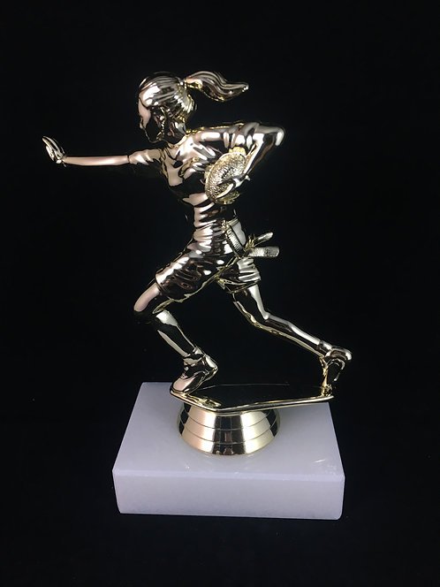 Female Flag Football Gold Figure Trophy