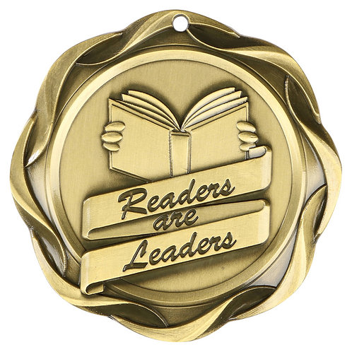 Fusion Readers are Leaders Medal 3""