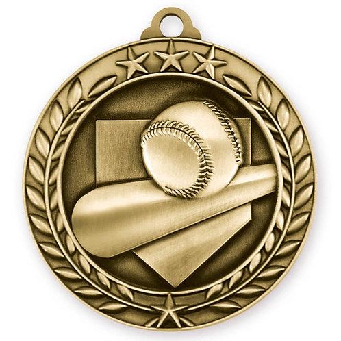 Wreath Medallion Baseball