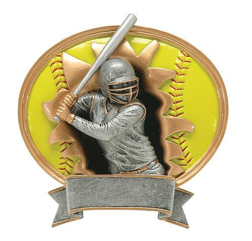Sport Blast Softball Resin plate