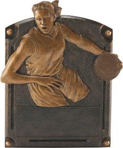 Legends of Fame Female Basketball Resin Plate
