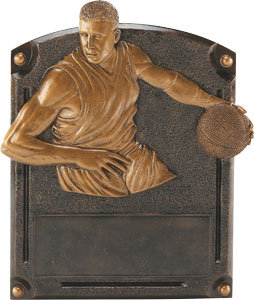 Legends of Fame Male Basketball Resin Plate