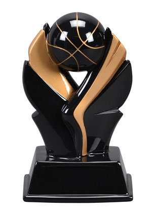 VALKYRIE BASKETBALL RESIN, BLACK/GOLD, 7 1/4""