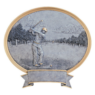 Oval Golf Resin Plate