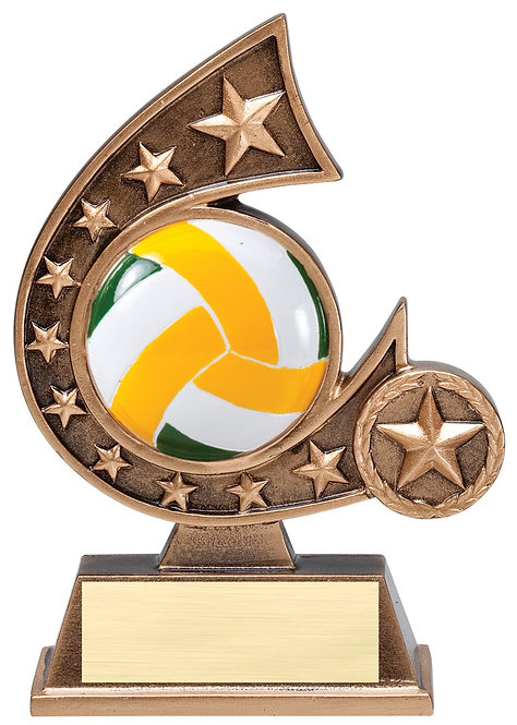 Resin Comet Volleyball Trophy