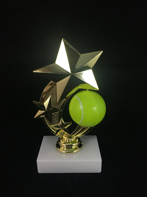 Tennis Star Spinner Gold Figure Trophy