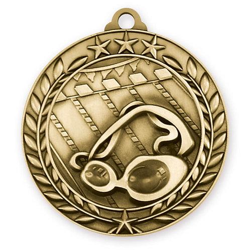 Wreath Medallion Swimming