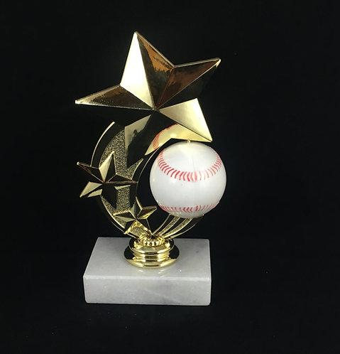 Baseball Spinner Gold Figure Trophy