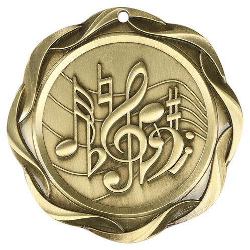 Fusion Music Medal 3""