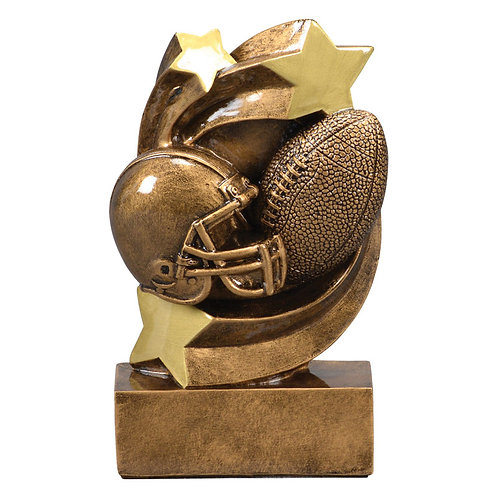 Star Swirl Football Trophy