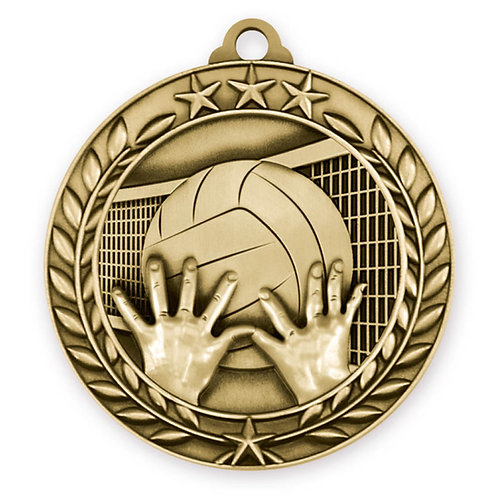 Wreath Medallion Volleyball