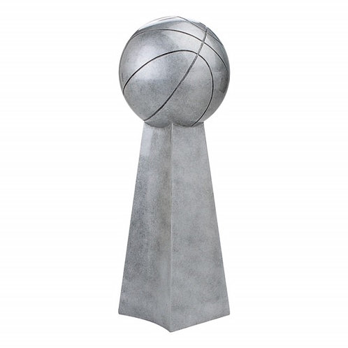 Silver Resin Basketball Championship Trophy