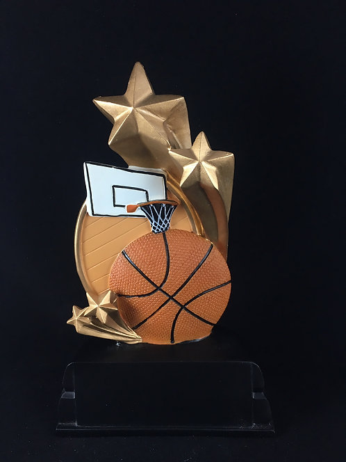 Color Basketball Resin Trophy