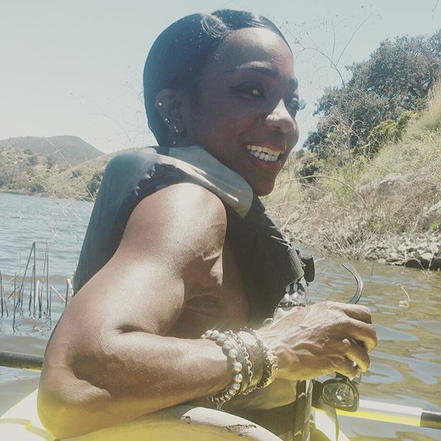 Kayaking at the Lake❤️❤️❤️#IamAblackWoma