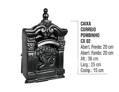 Caixa De Correio Colonial Pombinho Aluminio Fundido