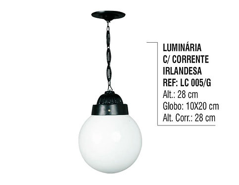 Luminária Irlandesa com Corrente Externa Interna em Alumínio