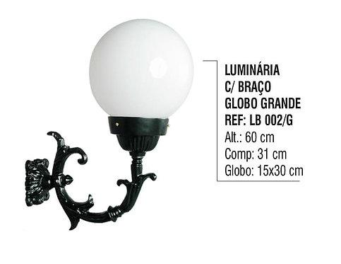Luminária Globo Grande com Braço Externa/interna em Alumínio 60cm