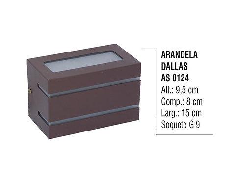 Arandela Externa Interna Dallas de Parede Alumínio e Vidro