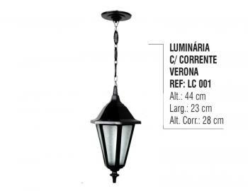 Luminária Externa e Interna Verona com Corrente em Alumínio LC 001
