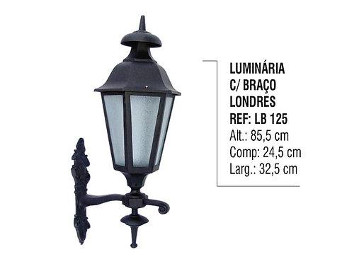 Luminária Londres Com Braço Externa/Interna Alumínio 85,5cm