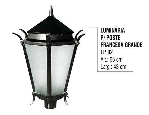 Luminária para Poste Francesa Grande LP 02