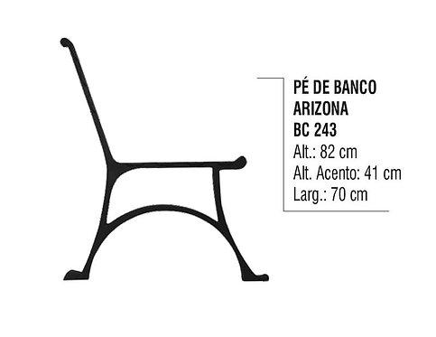 Pé de Banco Para Praça Arizona em Alumínio Fundido