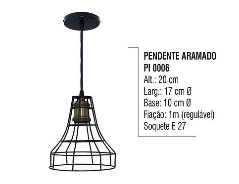 Pendente Aramado Lustre Luminária de Teto em Plástico PI 0006