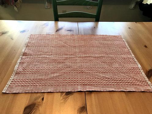 """Handwoven Burnt Orange Linen (19"""" x 13"""")"""