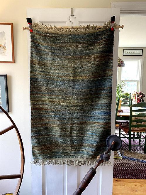 """Handspun and Handwoven Heavy Blanket (43""""x28"""")"""