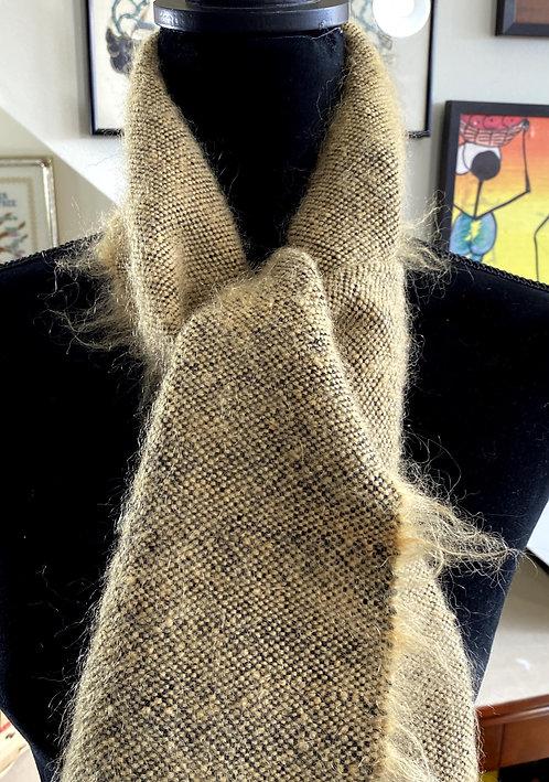 "Golden Mohair Handwoven Scarf (50"" x 7.5"")"