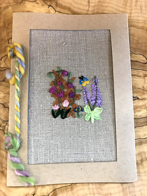"Embroidered Card - Foxglove (5""x7"")"