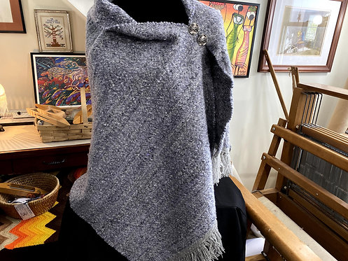 Handwoven and Handspun Poncho - Very Fine Merino