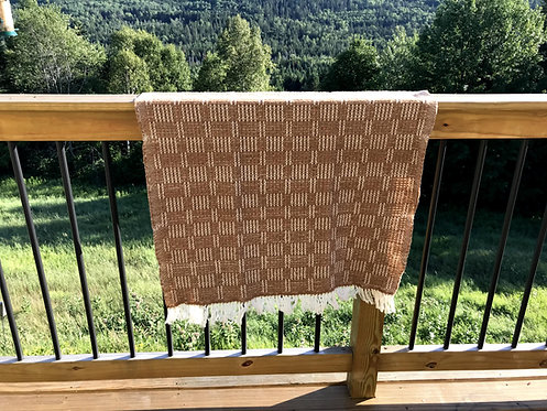 "Light Brown Handwoven Baby or Lap Blanket (44""x32"")"