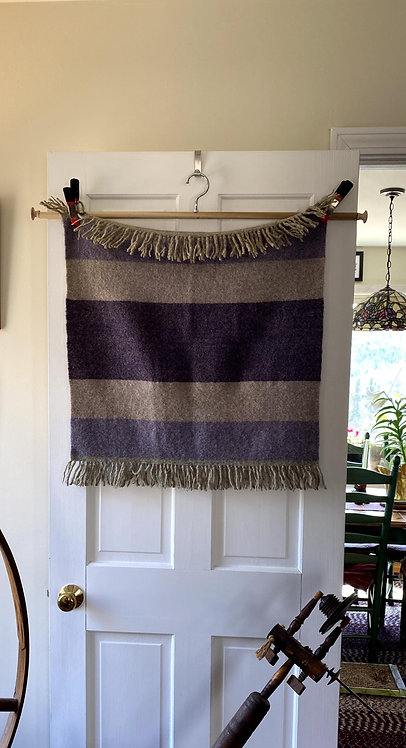 "Three shades of Purple Handwoven Baby or Lap Blanket (24""x24"")"