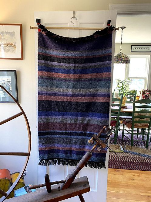 "Handwoven Multi-Heather Color Long Baby or Lap Blanket (50""x28"")"
