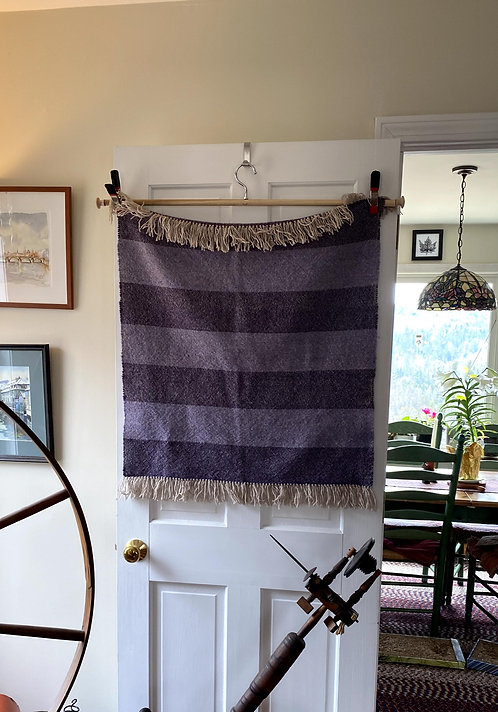 "Purple Handwoven Baby or Lap Blanket (28""x28"")"