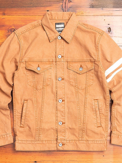 """03-150 """"Going to Battle"""" Washed Duck Type-3 Jacket in Brown"""