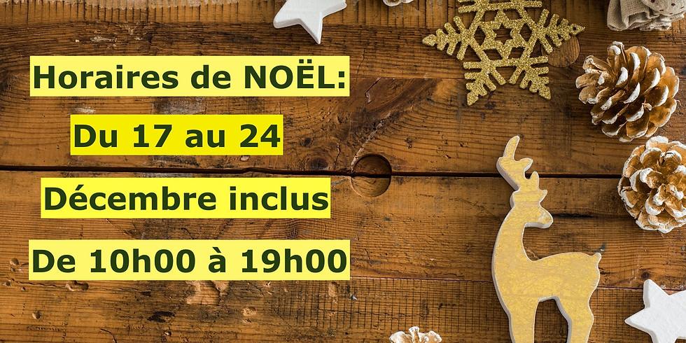 Breaking News : Le Shop sera ouvert du 17 au 24  Décembre inclus, de 10h00 à 19h00.