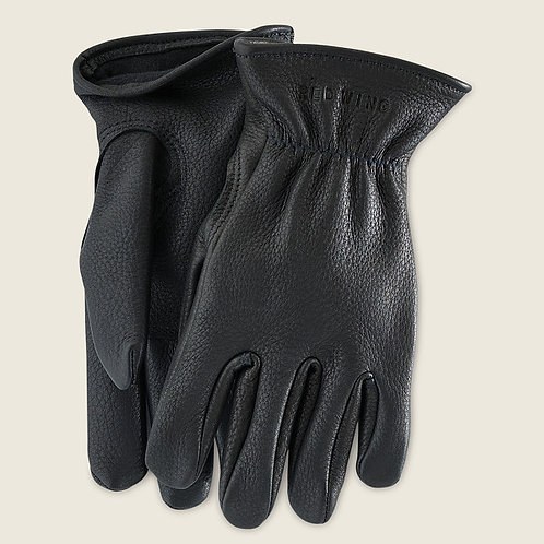 Gloves Black Lined Buckskin 95232