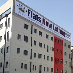 Flats To Let notice banner